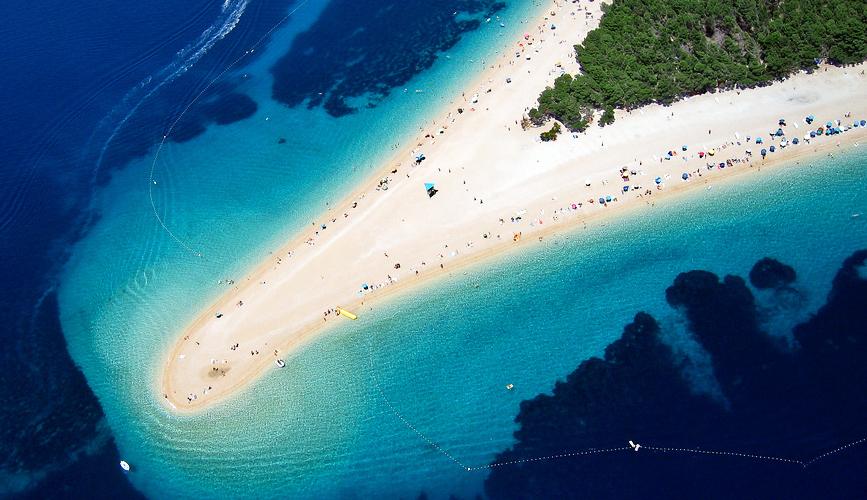 Croatia's moving beach on island Brač